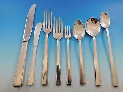 Modern Classic by Lunt Sterling Silver Flatware Set for 12 Service 101 pieces