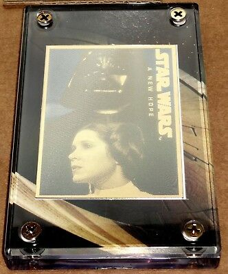 Star Wars 24K Pure Gold Engraved Collector Card Darth Vader & Princess Leia #839