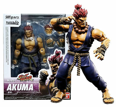 Bandai Tamashii Street Fighter V S.H. Figuarts Akuma Action Figure Authentic USA