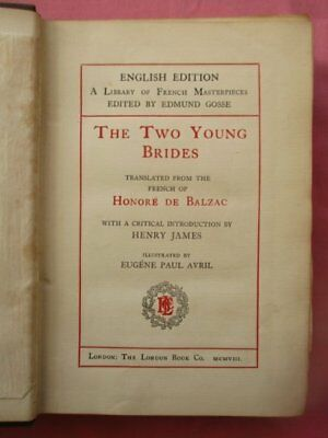 The Two Young Brides By Balzac Illustrated Eugene Paul Avril London Book Co 1908
