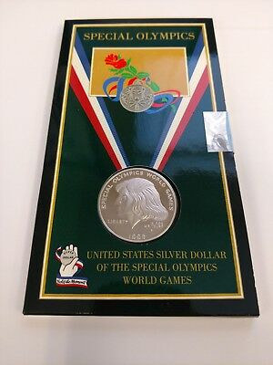 United States Mint 1995 Special Olympics World Games Proof Silver Dollar - Nip
