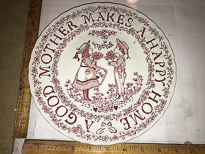 Royal Crownford Mother Plate Norma Sherman Staffordshire England Very Cute!~