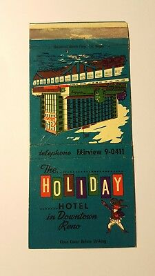 Holiday Hotel Matchbox Cover Downtown Reno