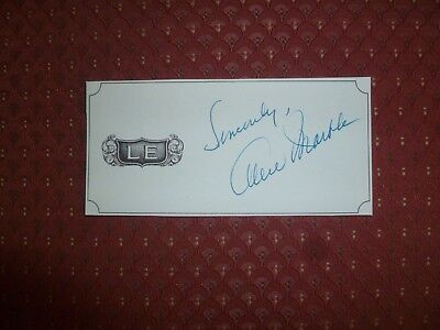 Alice Marble Autograph, Tennis Champ Alice Marble Signed Monogram!