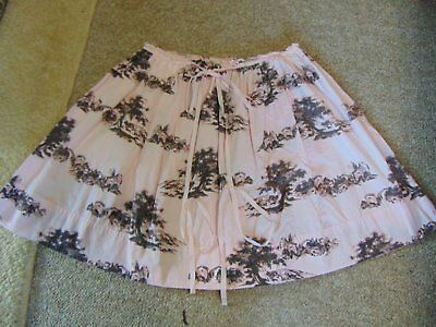 Vintage Adorable Print Houses Skirt sz 14 Gigi Audrey
