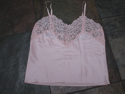 318 WACOAL Size Med Pink Satin & Lace VINTAGE  Camisole CAMI Style #81009 NWOT