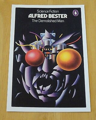 Penguin Sci-Fi Book Cover Postcard 'the Demolished Man' By Alfred Bester ~ New