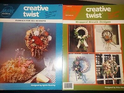 Creative Twist 2 Craft Booklets, Florals For All Seasons & Wrapped Wreath Design