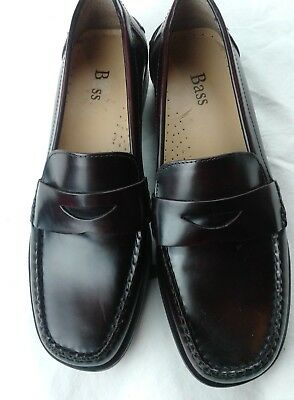 Bass Cortney Women's Shoes New With box Burgundy Penny Loafers  71/2 M Lesther