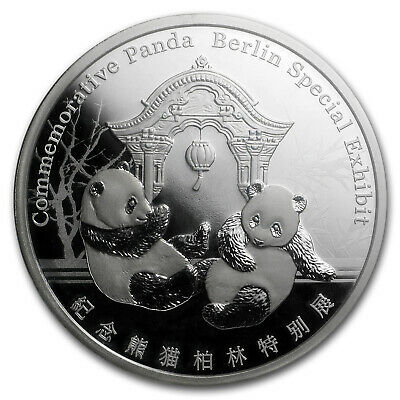 2018 China 1 oz Silver Panda Proof (Berlin World Money Fair) - SKU#162647