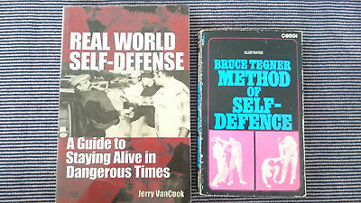 Martial Arts Book Lot, Jerry Vancook And Bruce Tegner. Methods Of Self Defence