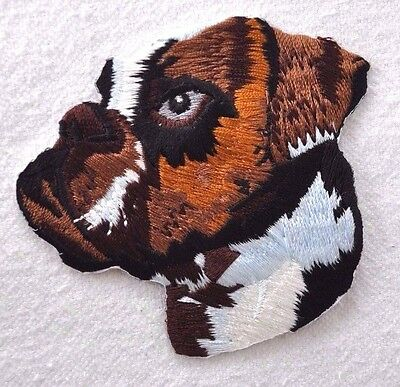 ***embroidered*** Iron On Patch Dog Detailed Top Quality Boxer **free Shipping**