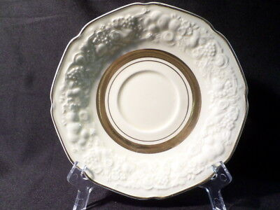Crown Ducal. Florentine. (Gold Band). Saucer. Made In England.