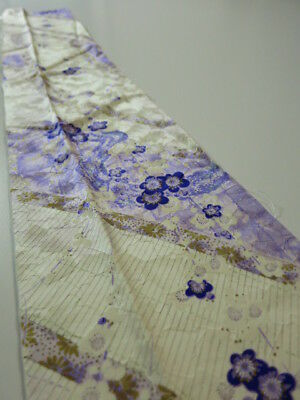 1D10z30 Japanese Kimono Silk  FABRIC Light purple Plum tree, Sudare 37""
