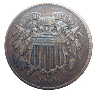 Two cent piece 1864 full motto