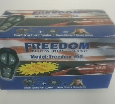 Freedom-150 New Omega Keyless Entry & Security Car Alarm With Anti-Carjacking