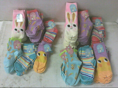 NEW Lot of 100 Pair of Assorted Size and Styles Girls Easter Socks $100