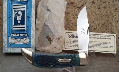 Case Classic Clasp 1 of 72 Blue Bone Case Brothers Shield Knife, Very Rare!