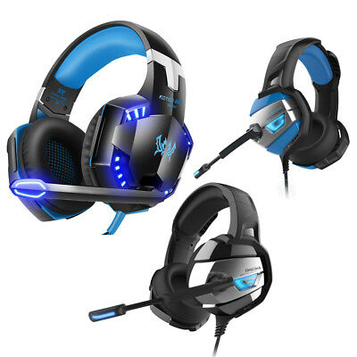 3.5mm Gaming Headset Mic LED Headphones Stereo Surround for PS4 Xbox ONE 360 PC