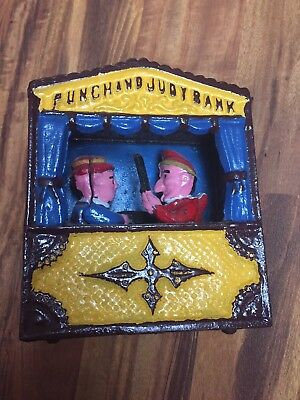 Punch And Judy Cast Iron Bank