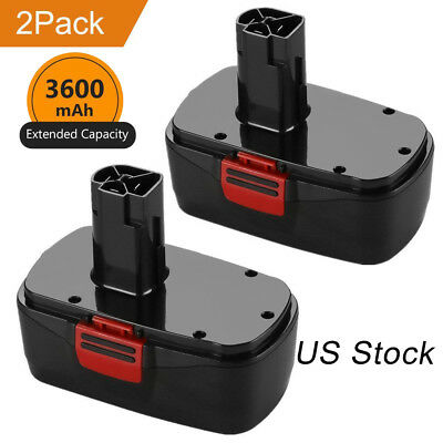 New Upgraded 3.6Ah for Craftsman 19.2v Battery C3 130279005 1323903 1323517-2PCS