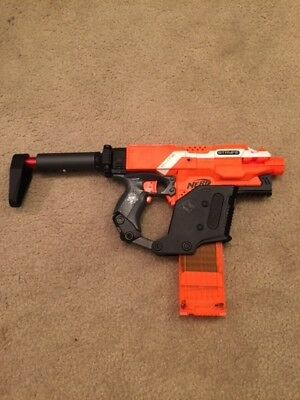 Custom Nerf Stryfe Gun with Kriss Vector Kit Modification w/a 18 round stick mag