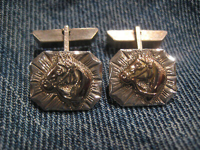 EXTREMELY RARE -- GRAVES MALONE Buckle Maker -- Sterling 10K Cufflinks