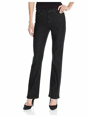 Womens Plus Size Relaxed Bootcut Baggy Leg Mid-Waisted Jeans Pants Size 14