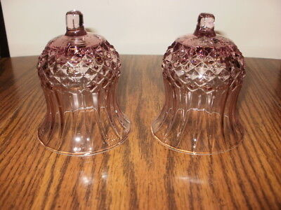 Set of 2 Plum Cathedral Votive Cups Home Interior Pink Cathedral Votive Cups
