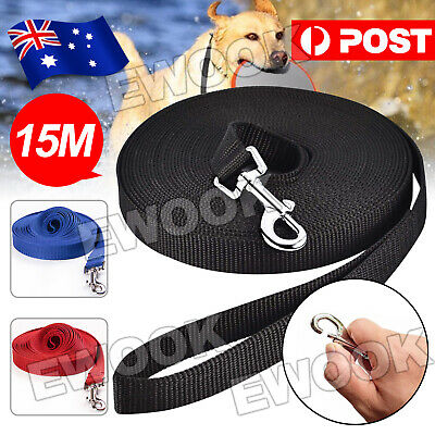 50ft/15m Long Dog Pet Puppy Lead Leash Training Obedience Recall Walk Tracking
