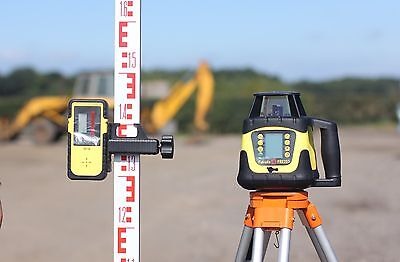 FRE207 Automatic Digital Rotary Laser Level Tripod and 5m staff
