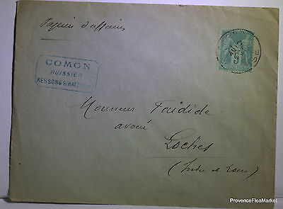 Wise on letter LOCHES - 1891 201ca107