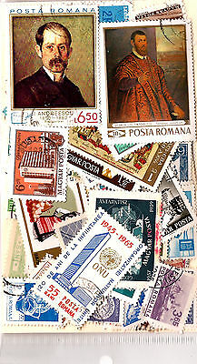 ROMANIA Pocket 100 stamps obliterated , all different, good condition G79