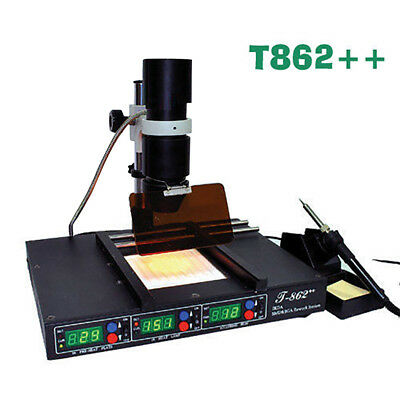 IR Infrared Irda Welder BGA Heating Rework Desoldering Station T862++ machine