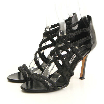 b2913753373a AUTHENTIC MANOLO BLAHNIK Gradiator Sandals Black Grade Ab Used -At ...