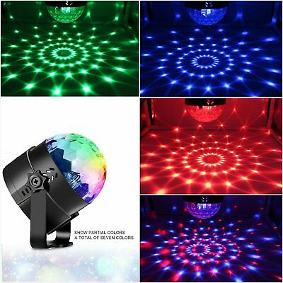 LED RGB Stage Effect Light Lamp Laser Crystal Magic Ball Disco Party DJ