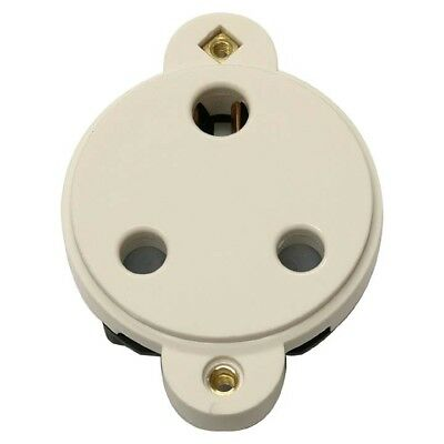15 Amp Panel Mount Socket Insert- White **free Delivery**