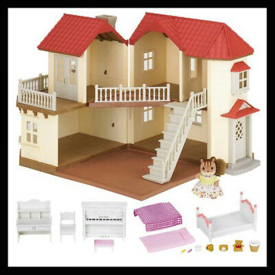 Sylvanian Families Beechwood Hall Doll House & Furniture Squirrel Figure Playset