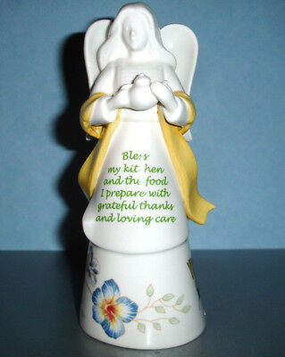 Lenox Butterfly Meadow Bless My Kitchen Angel Bell Figurine Yellow New
