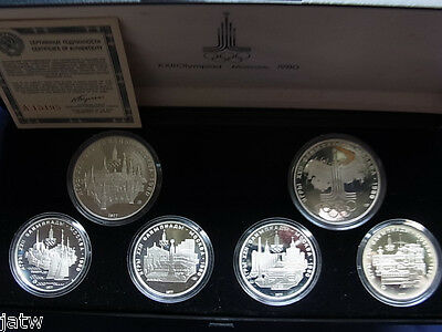 Russia. 1977 (1980) Olympic Games - 5 Roubles x4, 10 Roubles x2. Silver PROOFS