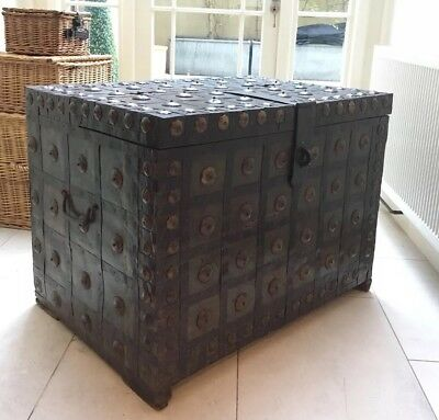 Ironbound Stong Chest Antique Trunk