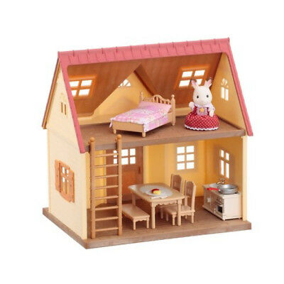 Sylvanian Families Cosy Cottage Starter Home Dolls House and Furniture Playset