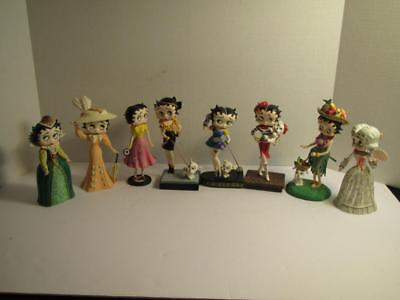 HUGE LOT of 8 BETTY BOOP Fashion Through The Ages Danbury Mint Figurines