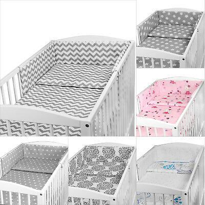 BABY NURSERY BEDDING SET FIT 140x70 COT BED 2 3 5 6 PC BUMPER PILLOWCASE DUVET