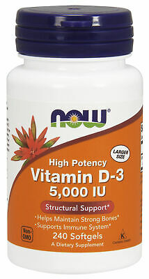 NOW Foods Vitamin D-3 5,000 IU - 240 Softgels