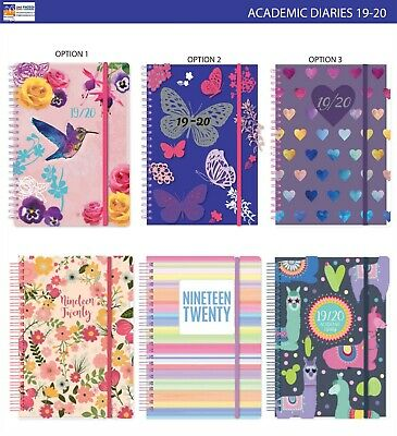 2019-2020 A5 Size Mid Year Academic Diary Day A Page Spiral Bound Wiro Diary