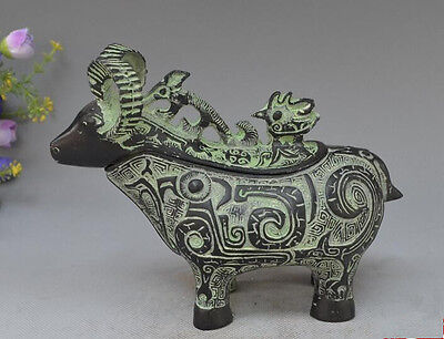 Collectibles Fine bronze statue of Chinese fortune sheep Rare