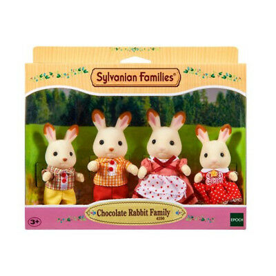 Sylvanian Families Chocolate Rabbit Family Dressed Play Doll Figures Playset