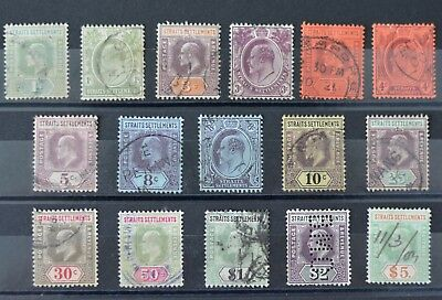 Malaya/Straits Settlements 1902-03 KEVII Set to $5 SG110-121 VF Used CV $400+