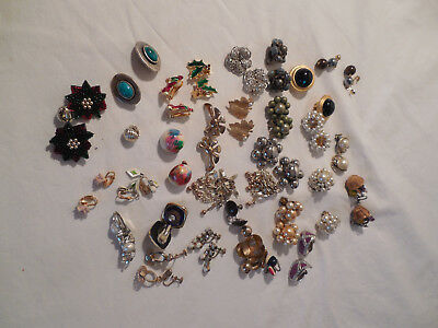 Large lot group of 30 clip on, screw back, Vintage & pre owned*